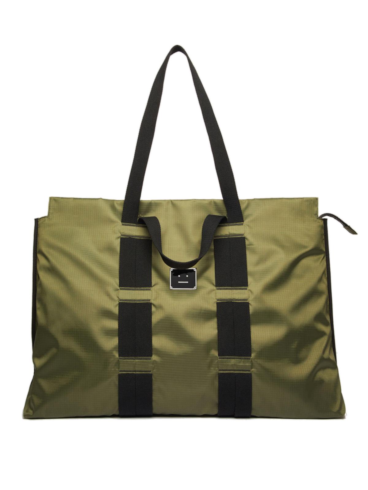 Acne Studios Väska agios plaque face khaki green   NK