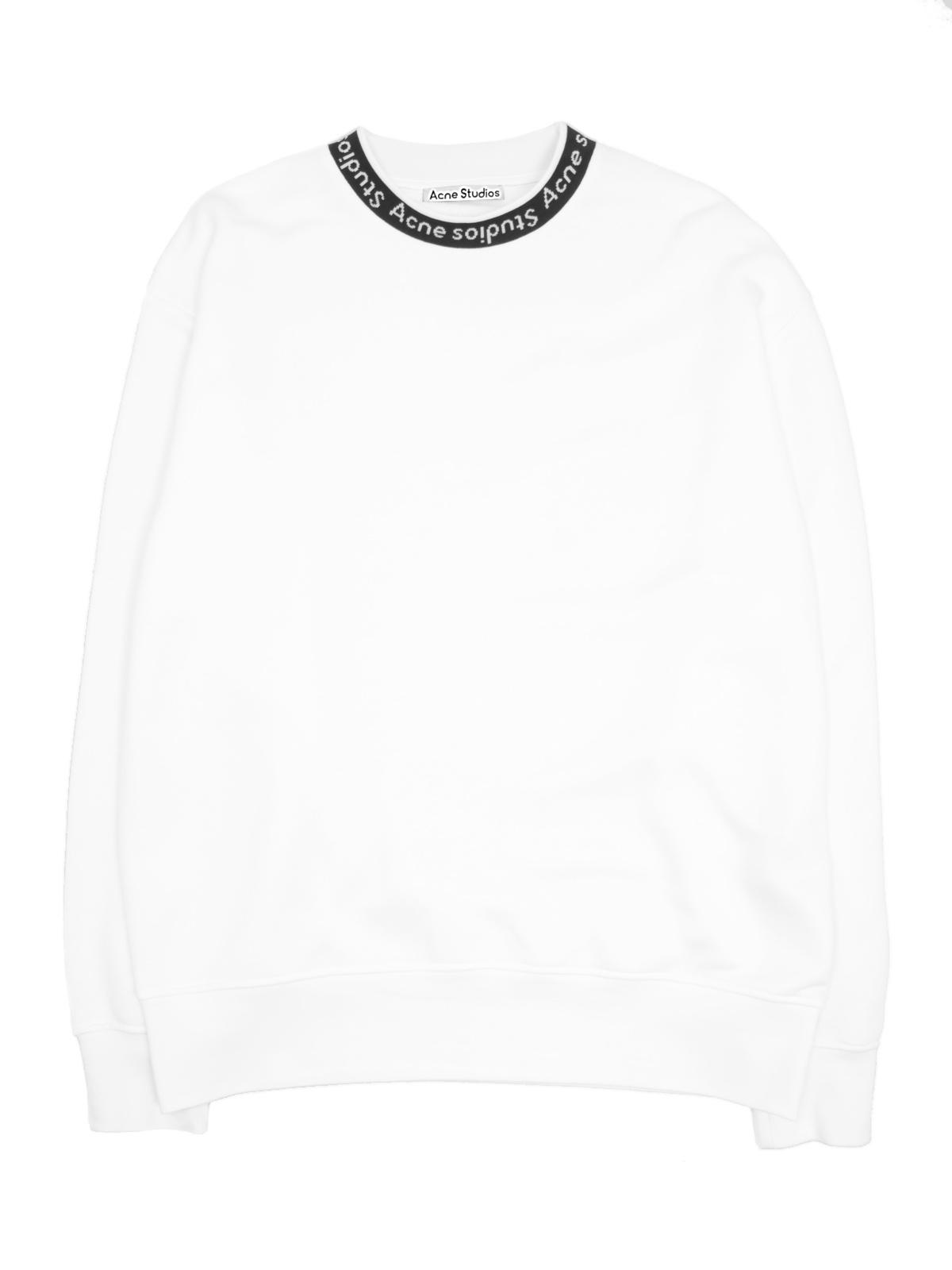 Tröja fulton logo rib optic white